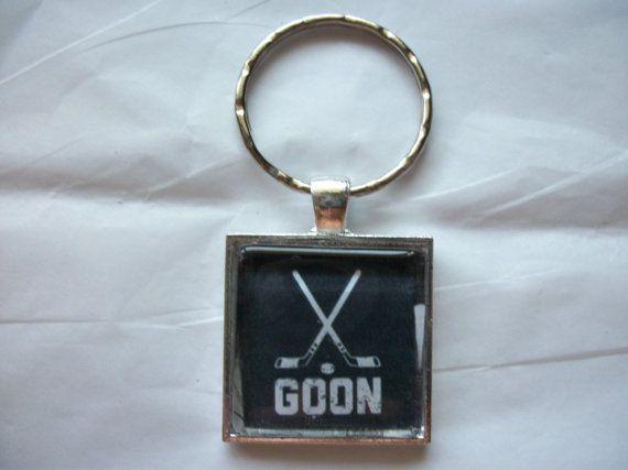 NHL Hockey Goon Silver Keychain Keyring Car Keys by BadCatCraft