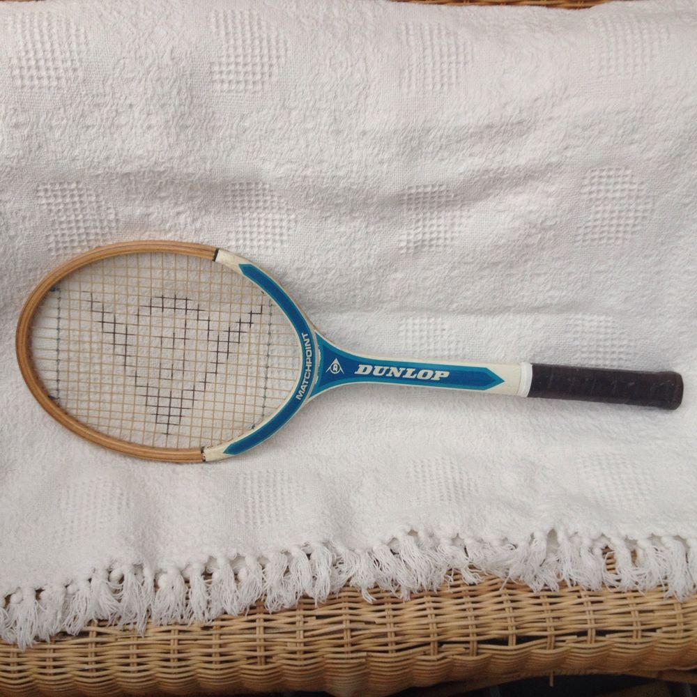 Dunlop Vintage Matchpoint Wooden Tennis Racquet Typewriters And
