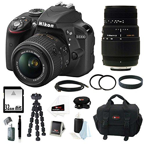 Nikon D3300 Digital Slr Camera With 1 For Only 689 95 Nikon Dslr Camera Best Digital Camera Digital Slr Camera