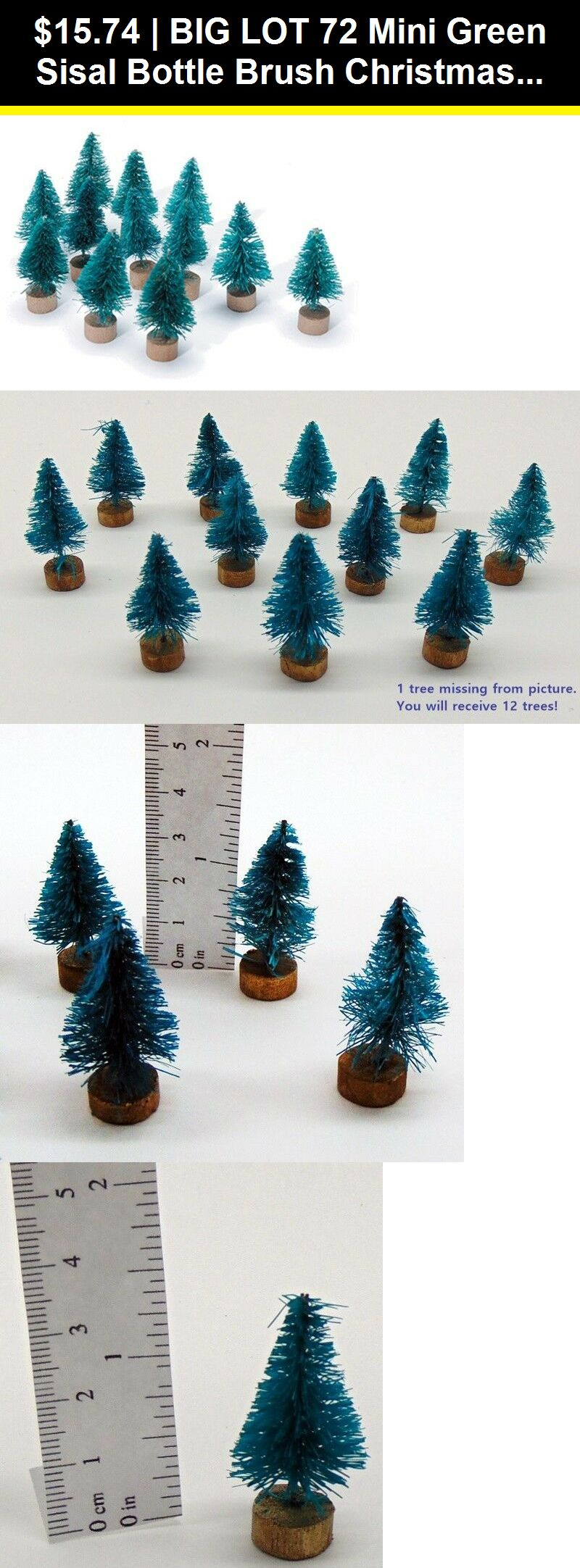 Craft Bells 116640 Big Lot 72 Mini Green Sisal Bottle Brush Christmas Trees 1 Tall 1 5 W Base Buy It No Bottle Brush Christmas Trees Craft Bells Christmas
