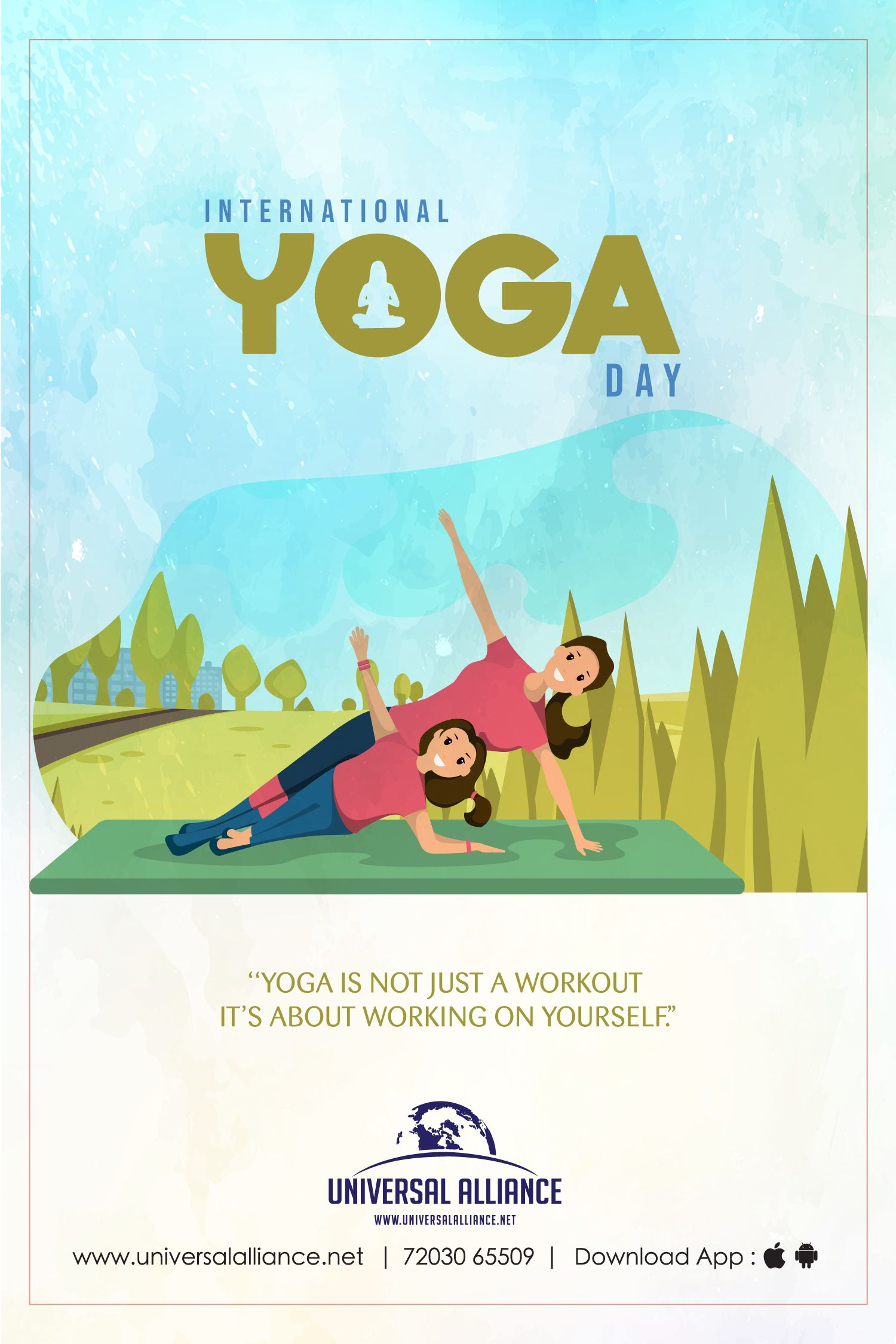 International Yoga Day Greeting Design Makemebrand Yoga Day Fashion Business Cards International Yoga Day