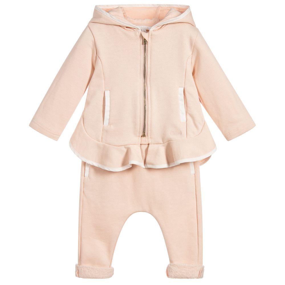 b3c5ae431fc42 Chloé - Baby Girls Pink Tracksuit