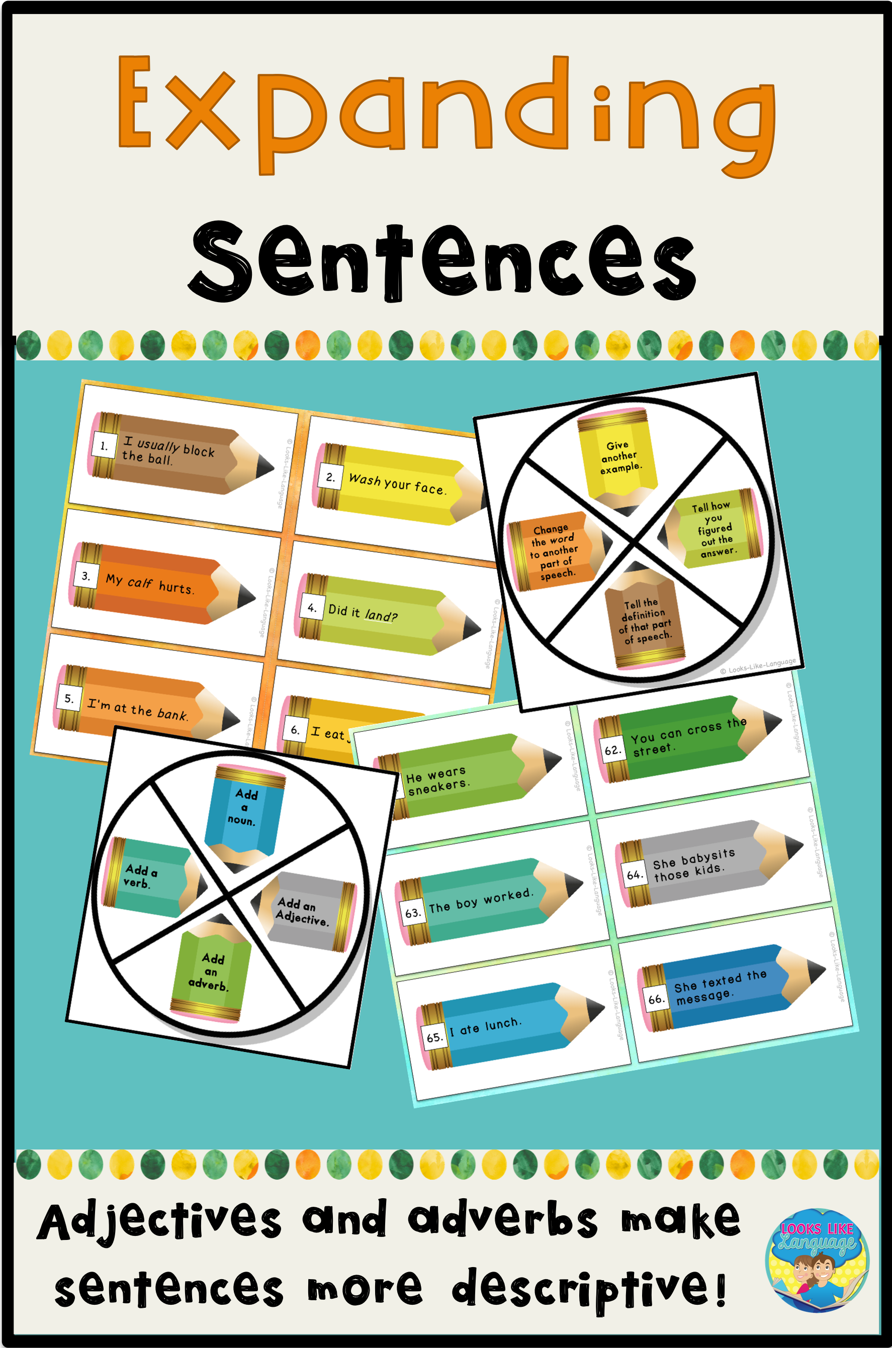 Make Learning Parts Of Speech Fun With This Activity Set