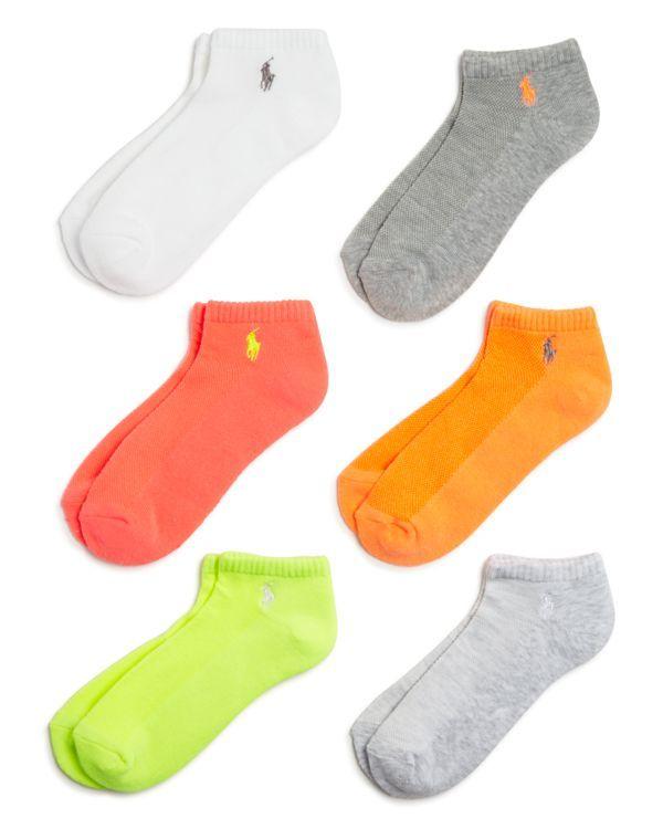 05c49fac Polo by Ralph Lauren Blue Label Low Cut Ankle Socks, Set of 6 ...