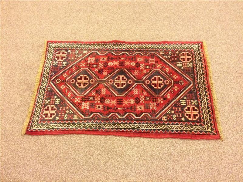 2x3.2 Feet Vintage Carpet Handmade Rug Handmade Carpet Vintage Rug Code:P365-43377: Itshandicraft.com: carpettappeto