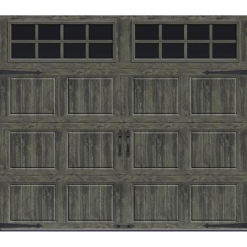 Ideal Door Designer 10 X 8 Oak Slate Insulated Garage Door With Windows R Value 6 5 In 2020 Garage Doors Garage Door Styles Garage Door Types
