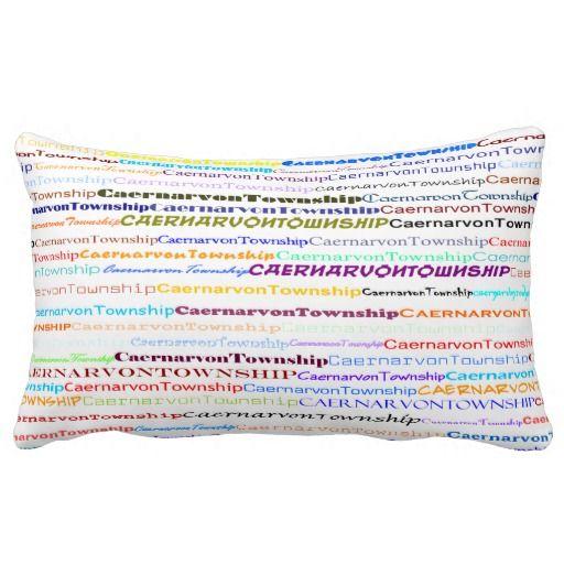 Caernarvon Township Text Design II Lumbar Pillow