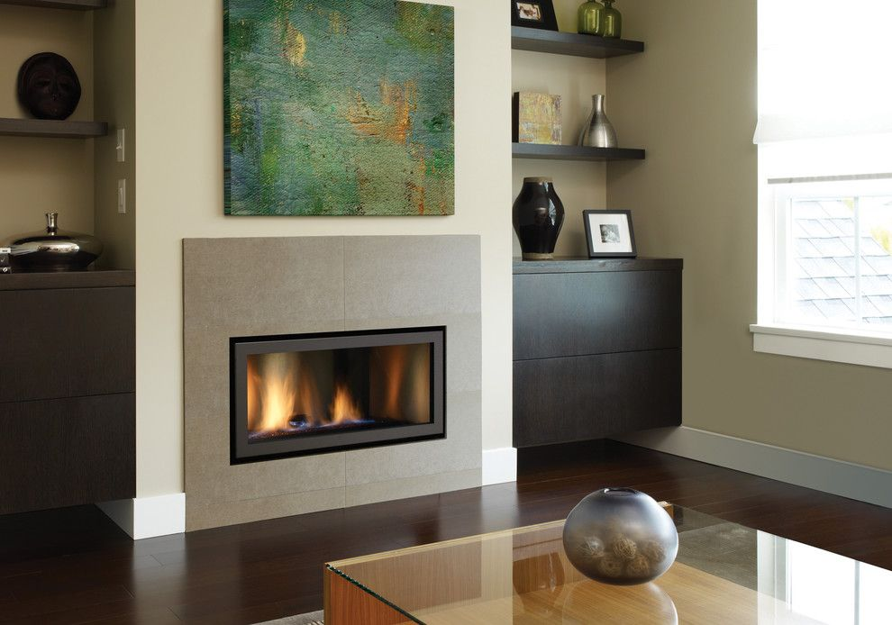 Modern Gas Fireplace In Living Room With Contemporary Fireplace Built In Cabinets Modern Fireplace Living Room With Fireplace Contemporary Fireplace
