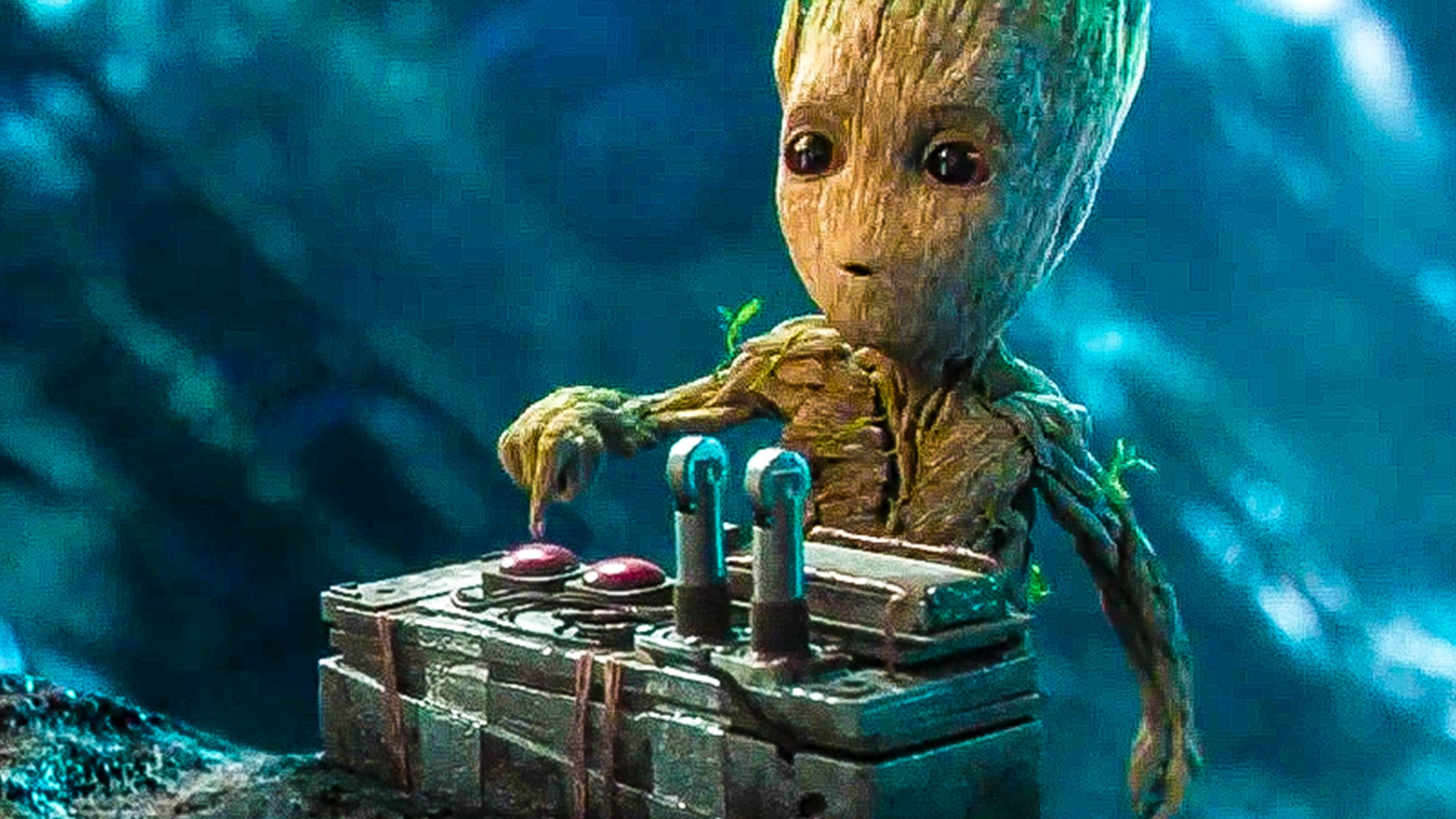3840x2160 Guardians Of The Galaxy 2 Film Clip Baby Groot