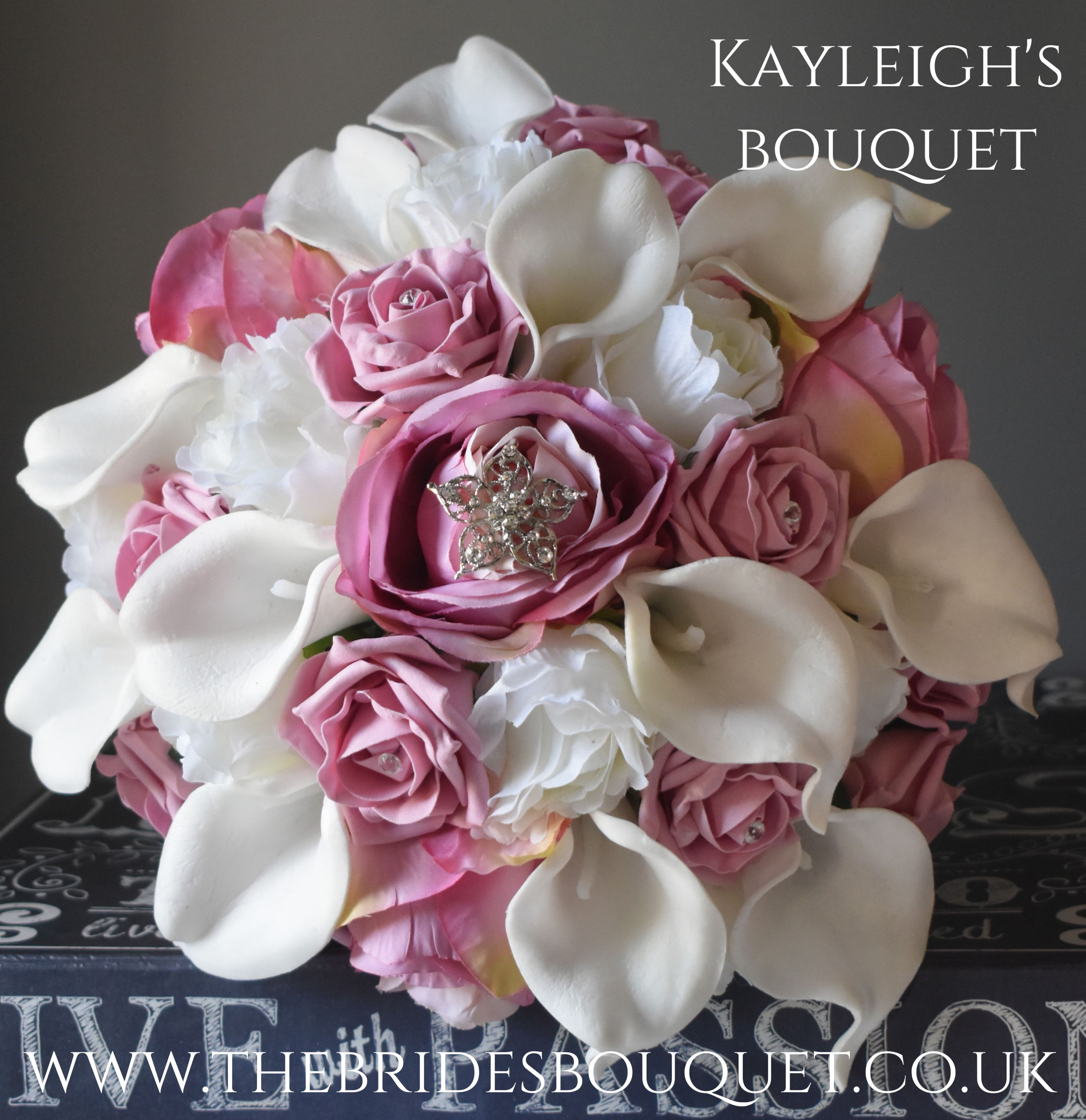 Stunning Bridal Bouquet Of Artificial Dusky Pink And Ivory Flowers Created For Bride To Be Kayleigh Flower Packaging Wedding Flower Packages Pink Wedding Theme
