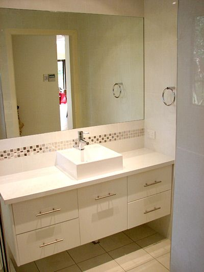 Bathroom Wall Hung Vanity Units  Brisbane With Mosaic Feature Cool Mosaic Feature Tiles Bathroom Design Ideas
