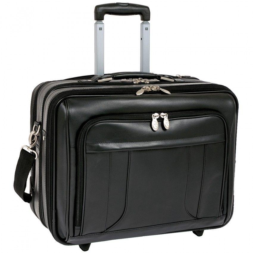 Mckleinusa Lasalle 83405 Black 17 Wheeled Laptop Overnight Rolling Laptop Bag Laptop Case Laptop Bag