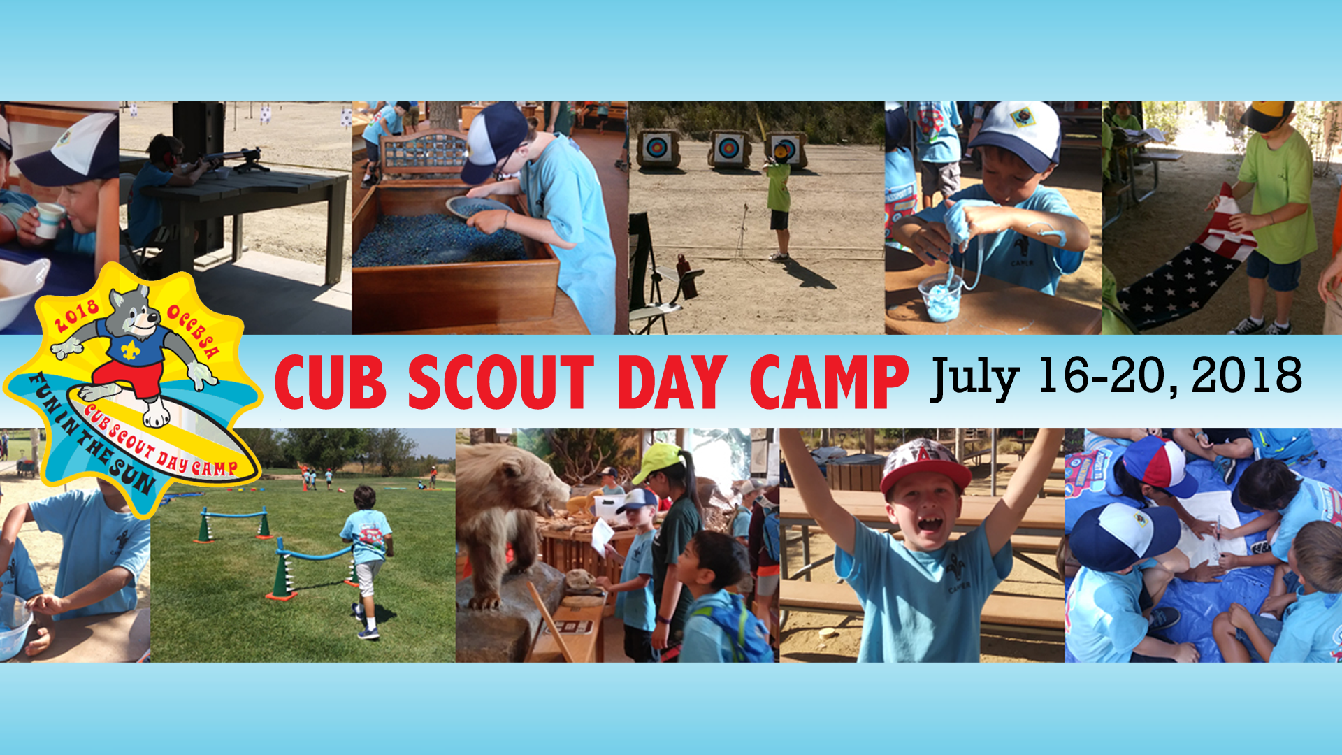Cub Scout Summer Day Camp - June 16-20, 2018  Orange County