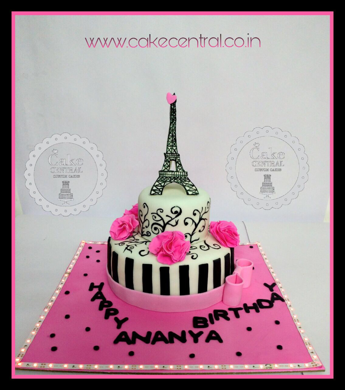 Paris Theme Birthday Cake By Central