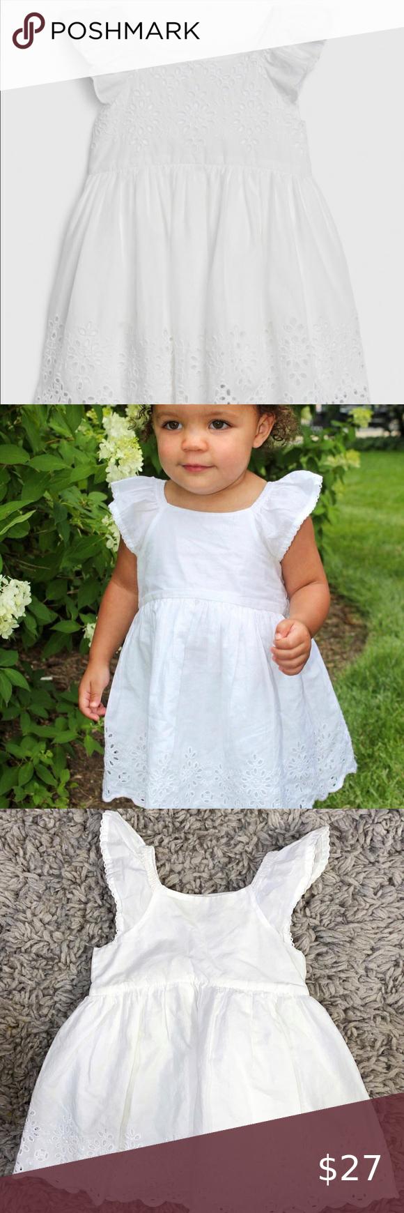 12 18m Baby Gap White Eyelet Summer Dress Summer Dresses Dresses Gap Dress [ 1740 x 580 Pixel ]