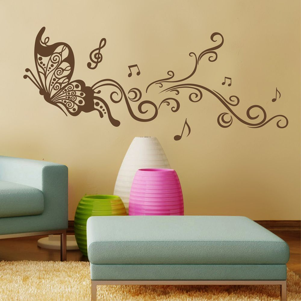 Wall sticker - butterfly - but inspiration for wall painting for me ...