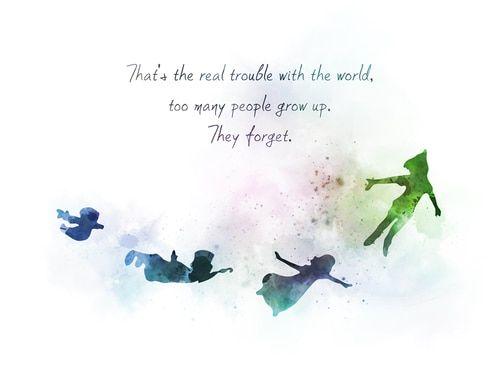 Peter Pan Quote ART PRINT Faith, Wings, Inspirational, Nursery, Gift, Wall Art, Home Decor