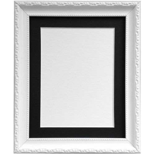 Marlow Home Co Blasco Picture Frame With Black Mount Picture Frames Frames On Wall Wood Picture Frames