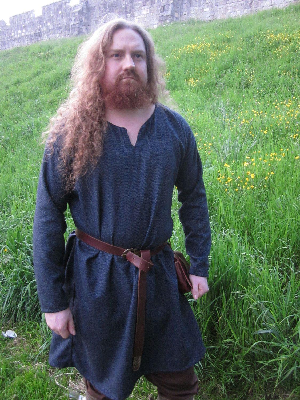 Viking Woolen Tunic Simple Tunic Reenactment Early Medieva Tunic Birka Tunic