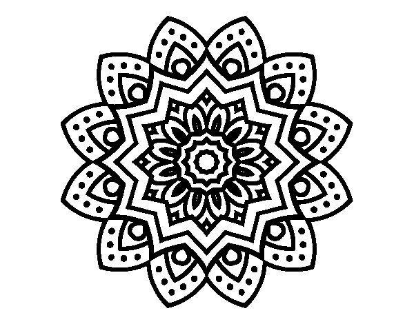 Natural Flower Mandala Coloring Page Coloringcrew Com Mandala