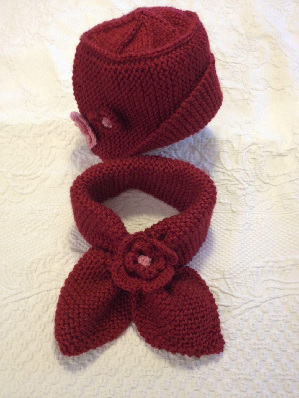 87f2bf74cbf2 Bonnet et écharpe fille - tricot enfant   Mode filles par unepelotedelaine