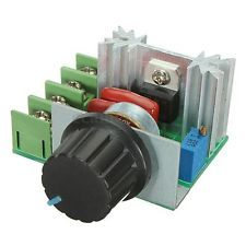Controlador de velocidad del motor Regulador de voltaje LED Dimmer Tablero de circuito FR-4 AC 50-220V 2000W 25A AC