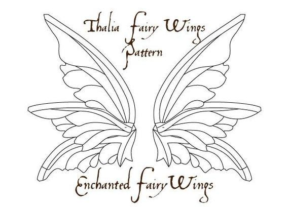 PDF download PATTERN and tutorial for fairy wings Thalia