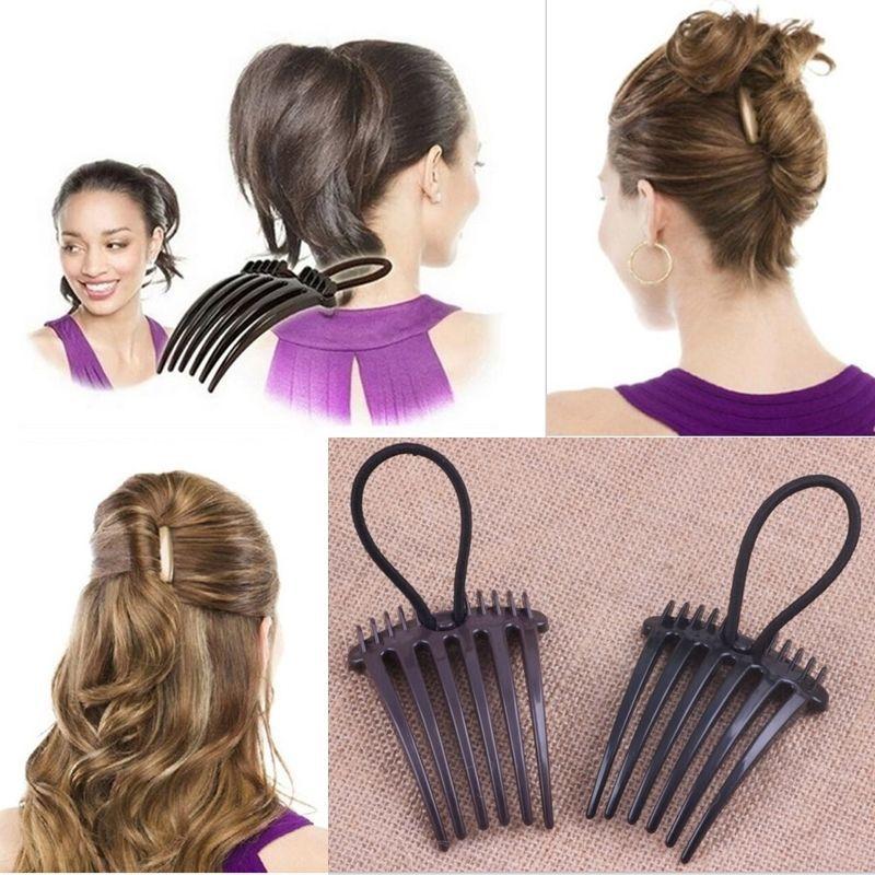 Steckkamm Mit Gummi Einsteckkamm Frisurenhilfe Haarkamm Haardreher Hair Twister Ebay Haarkamm Haare Haare Pflegen