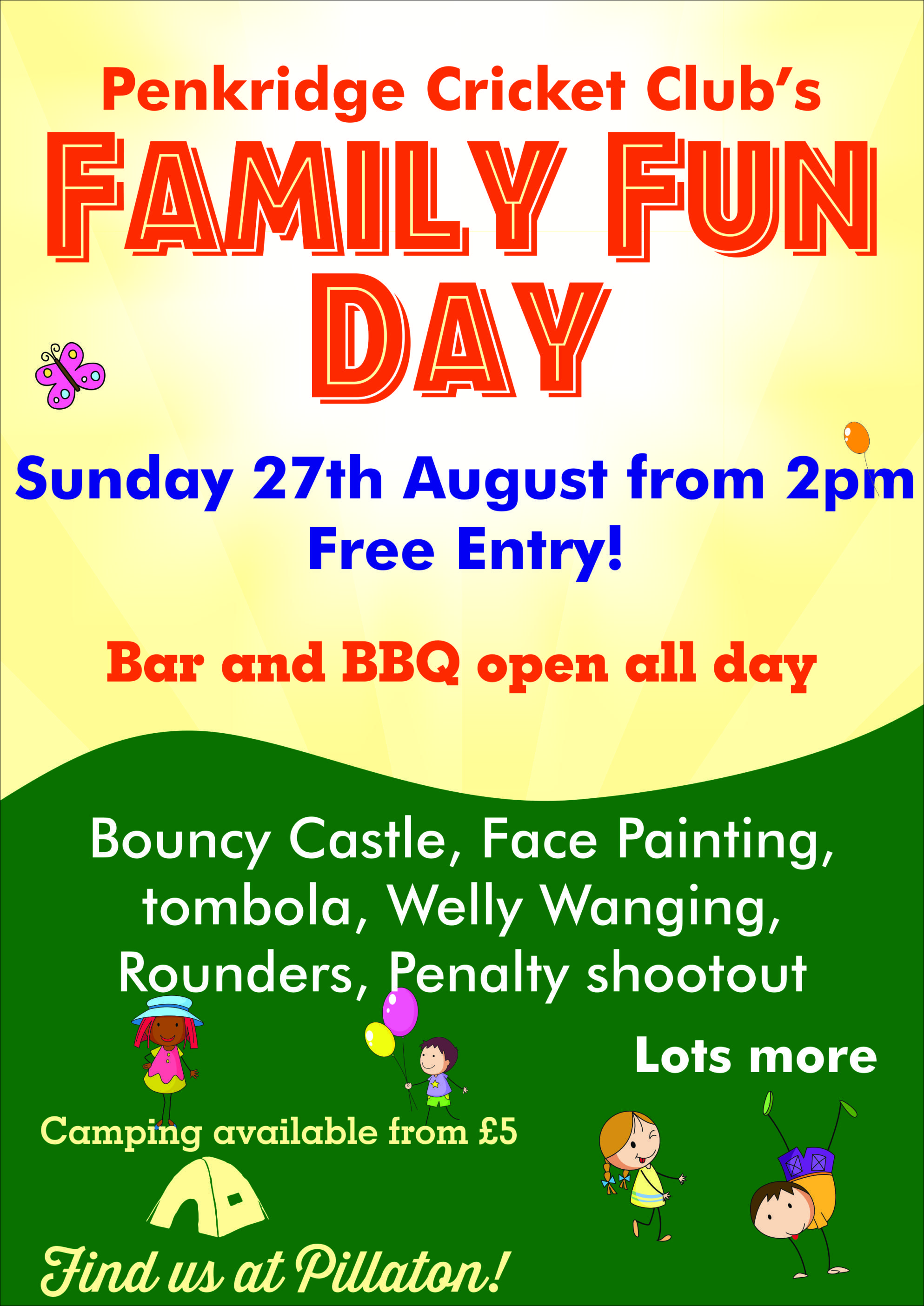 Family Fun Day Poster Penkridge Family Fun Day Family Fun Fun
