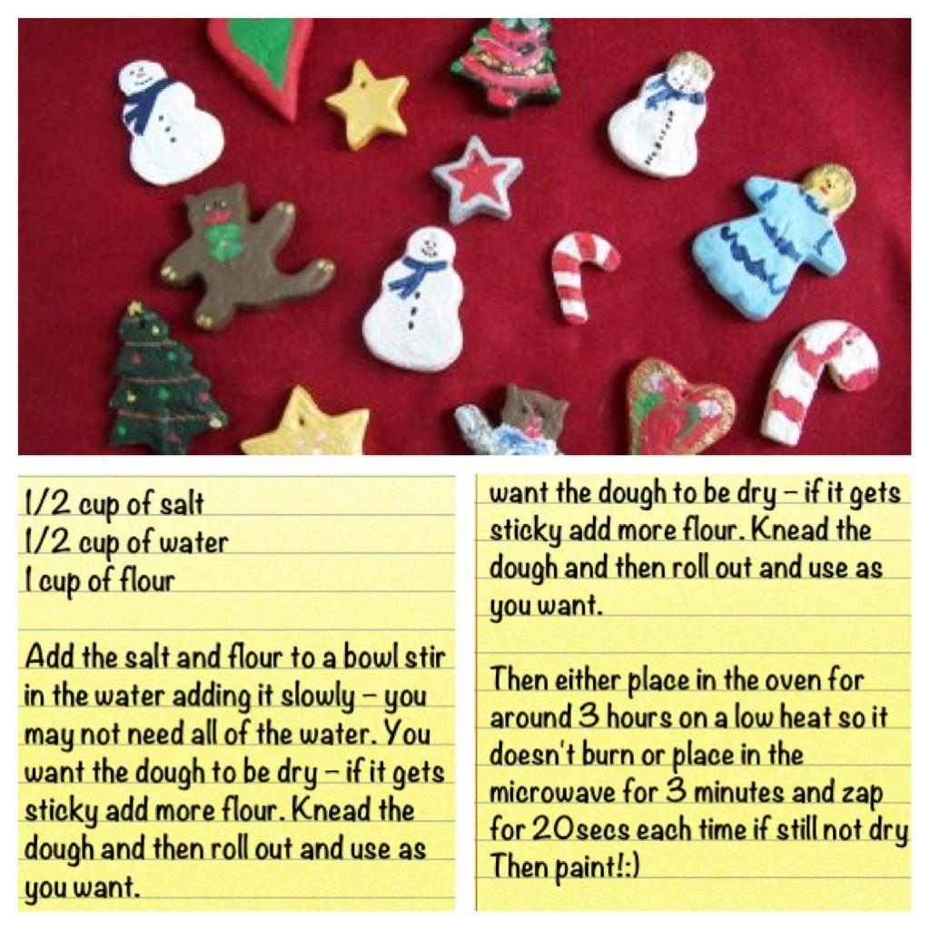 #DIY #saltdough #christmas #decorations :)