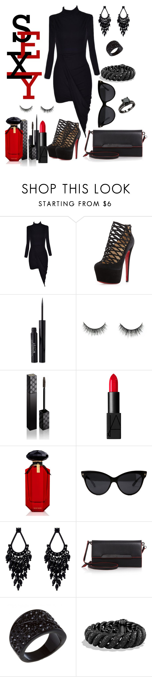 """""""Untitled #348"""" by fasttrack2fashion ❤ liked on Polyvore featuring Christian Louboutin, Stila, Gucci, NARS Cosmetics, Victoria's Secret, Oasis and David Yurman"""