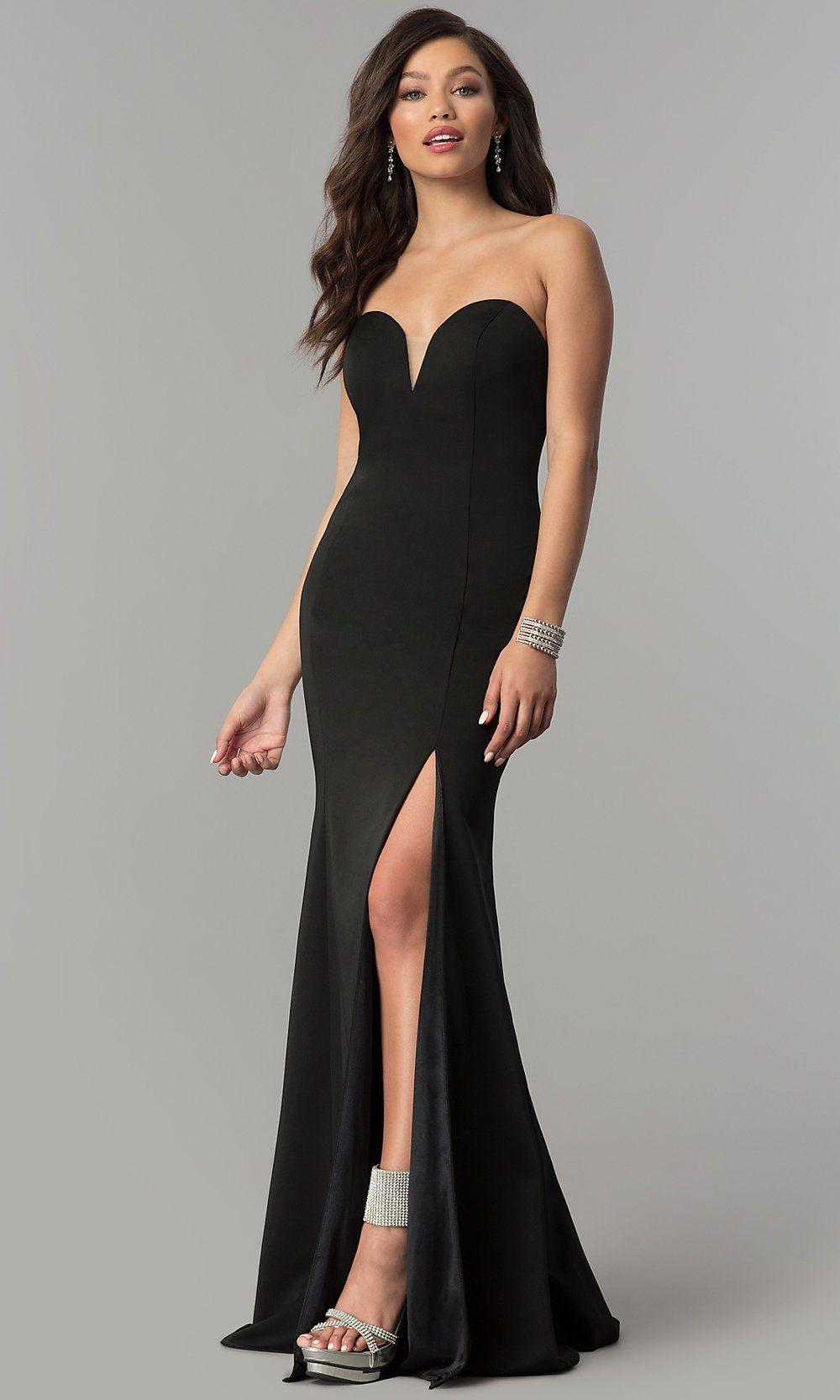 Jvnx By Jovani Long Strapless Sweetheart Prom Dress Sweetheart Prom Dress Open Back Prom Dresses Designer Formal Dresses [ 1666 x 1000 Pixel ]