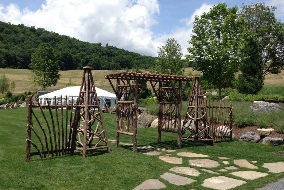 Rustic Garden Tepees & Obelisks For Sale Rustic