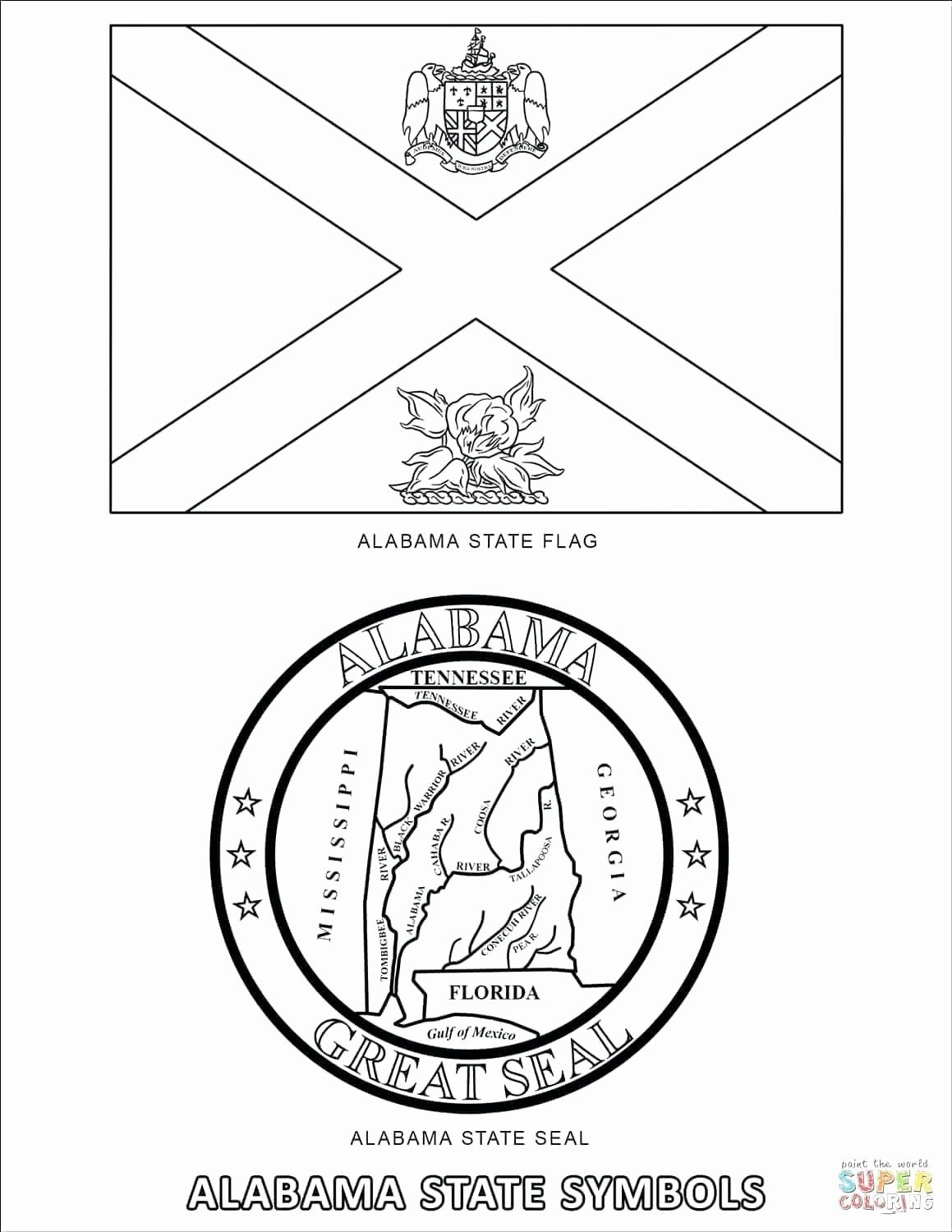 Alabama State Bird Coloring Page Beautiful Delaware State Seal Coloring Page Champprint Flag Coloring Pages Ohio State Flag Bird Coloring Pages