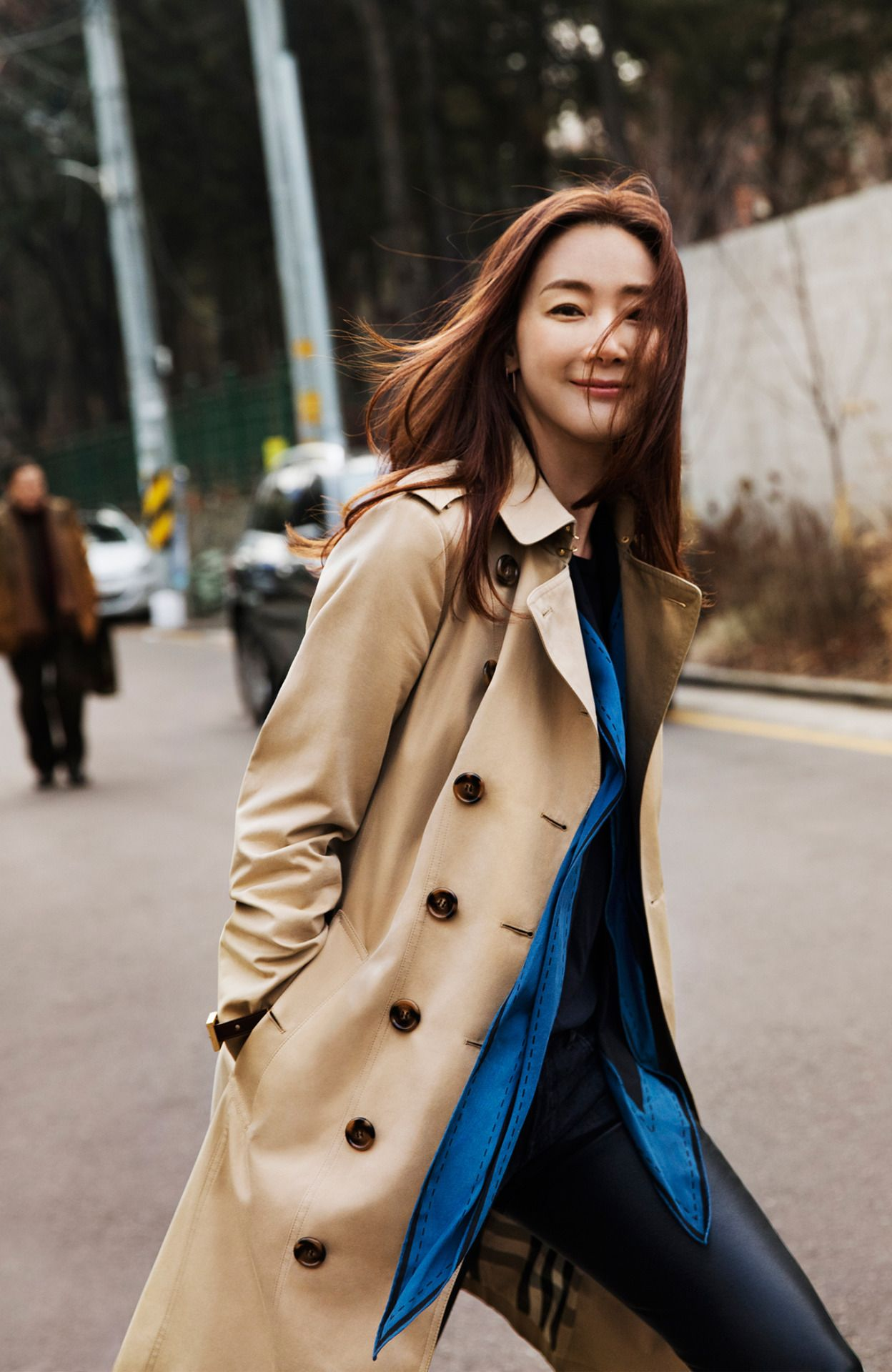"burberry: "" Actress Choi Ji Woo Photographed by Shin Sun Hye in Seoul """