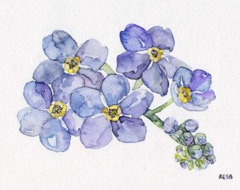 Forget Me Not Painting - Print from Original Watercolor ...   340 x 270 jpeg 17kB