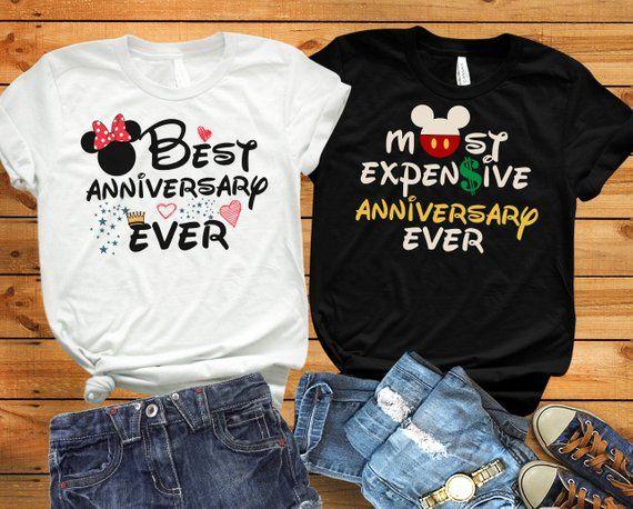 7bbec28d Disney anniversary shirts, Disney husband wife shirts, Disney couple shirts,Disney  hubby wifey, Disney matching shirts, Disney adult shirts