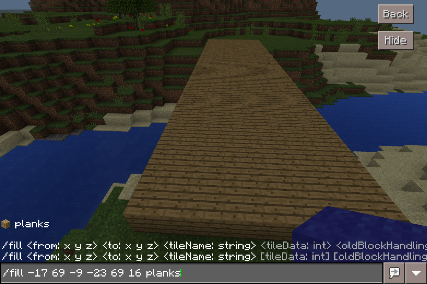 Using Basic /fill Commands in Minecraft: Education Edition