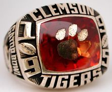 1995 Clemson Tigers Gator Bowl Ring Gator Bowl Clemson Tigers Clemson