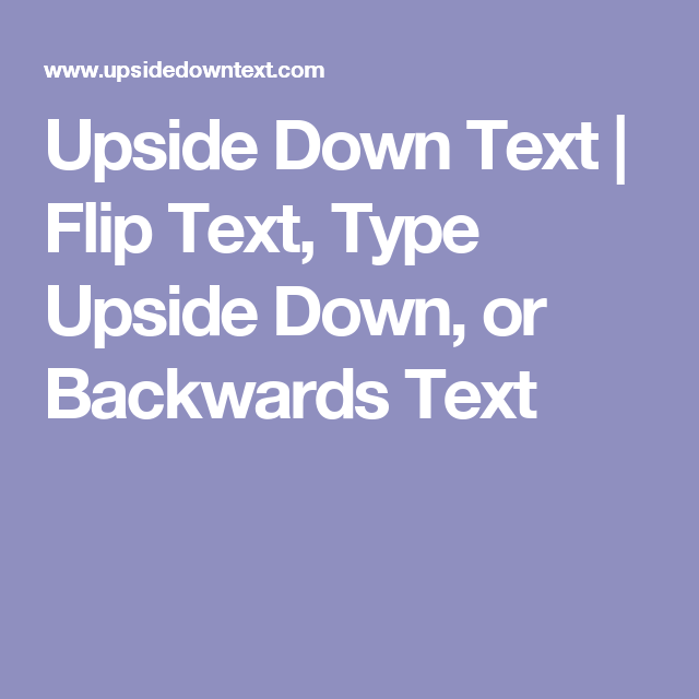 how to type upside down text in word