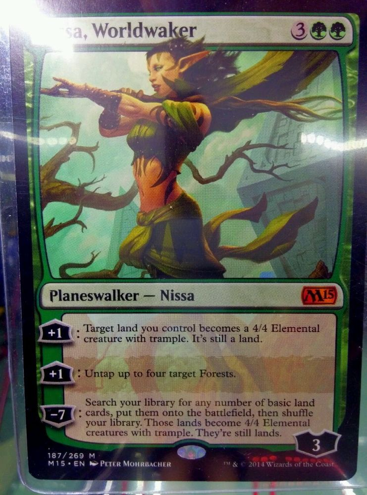 Mtg Magic The Gathering Nissa Worldwaker Planeswalker Core M15 Mint