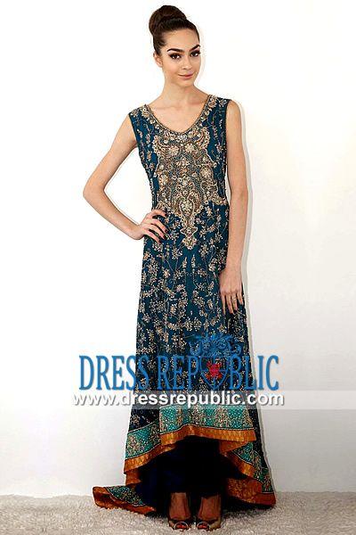 Deep Teal Sleeveless Long Shirt Dress Designer Karma Dresses