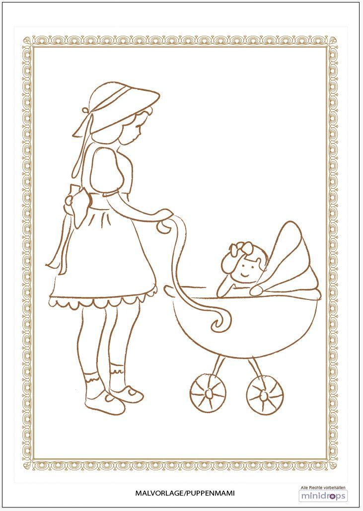 Malvorlage - Puppenmami   Pinterest   Ausmalbilder zum ausdrucken ...