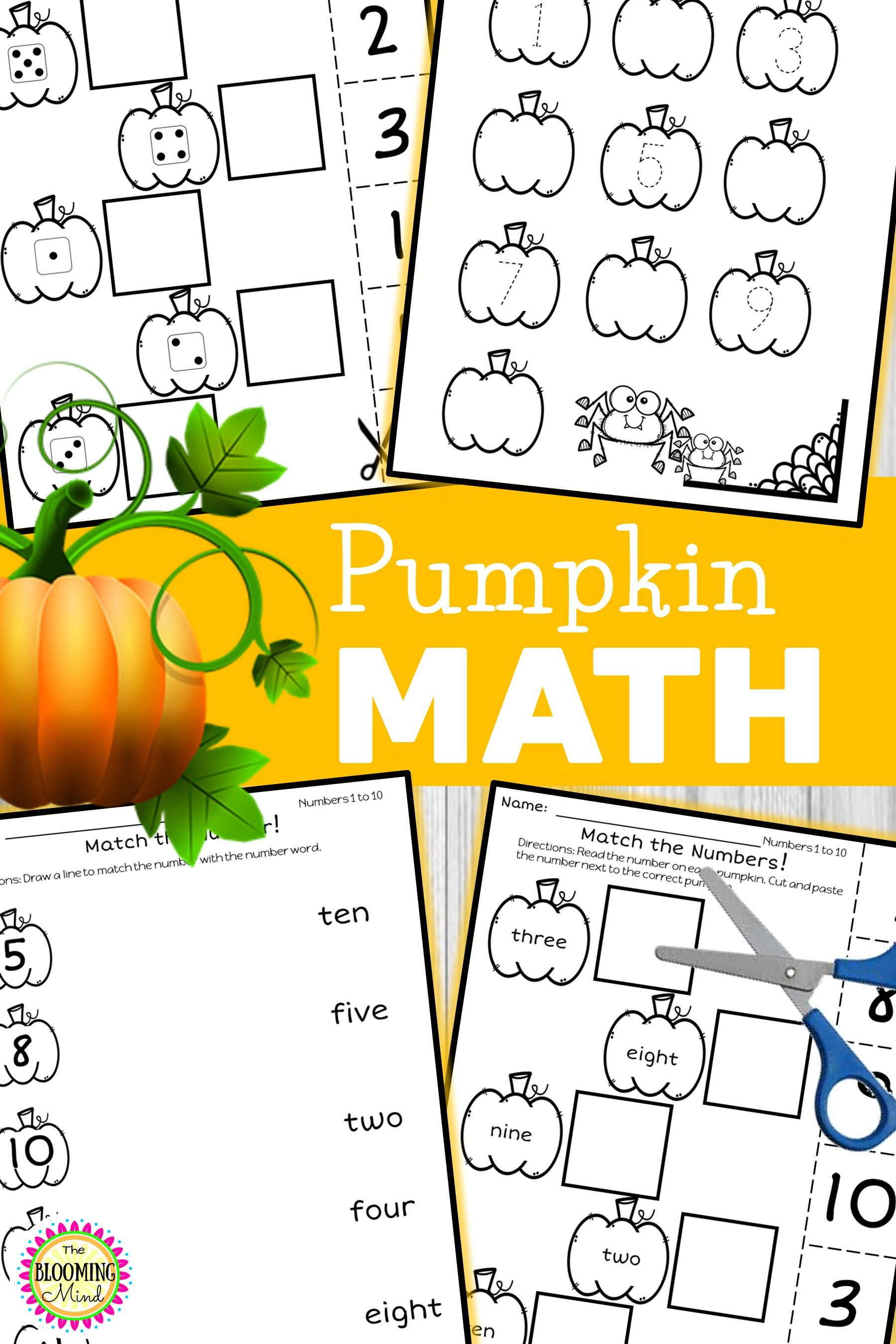 Pumpkin Math Worksheets