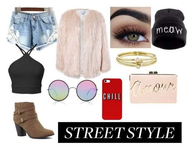 """Street Style IDK"" by moonstar843 on Polyvore featuring Sans Souci, Sunday Somewhere, Jennifer Meyer Jewelry and BCBGMAXAZRIA"