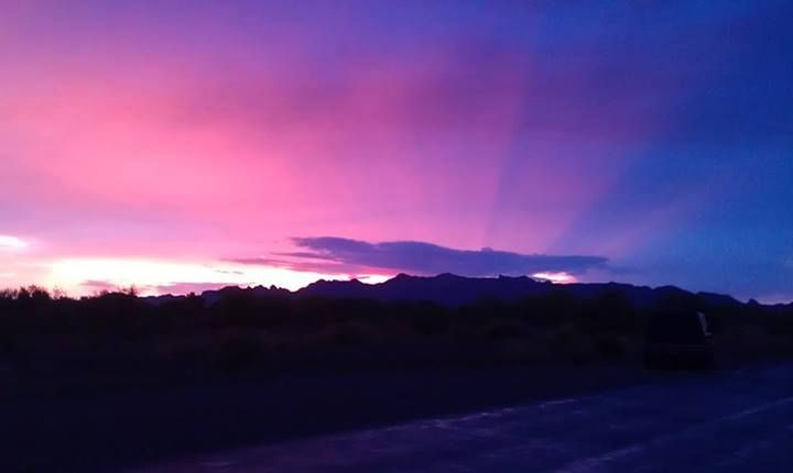 Gorgeous sunrise in the AZ desert during a storm. ~ Taken by friend Chelley Thomas ~ July 2013 slp