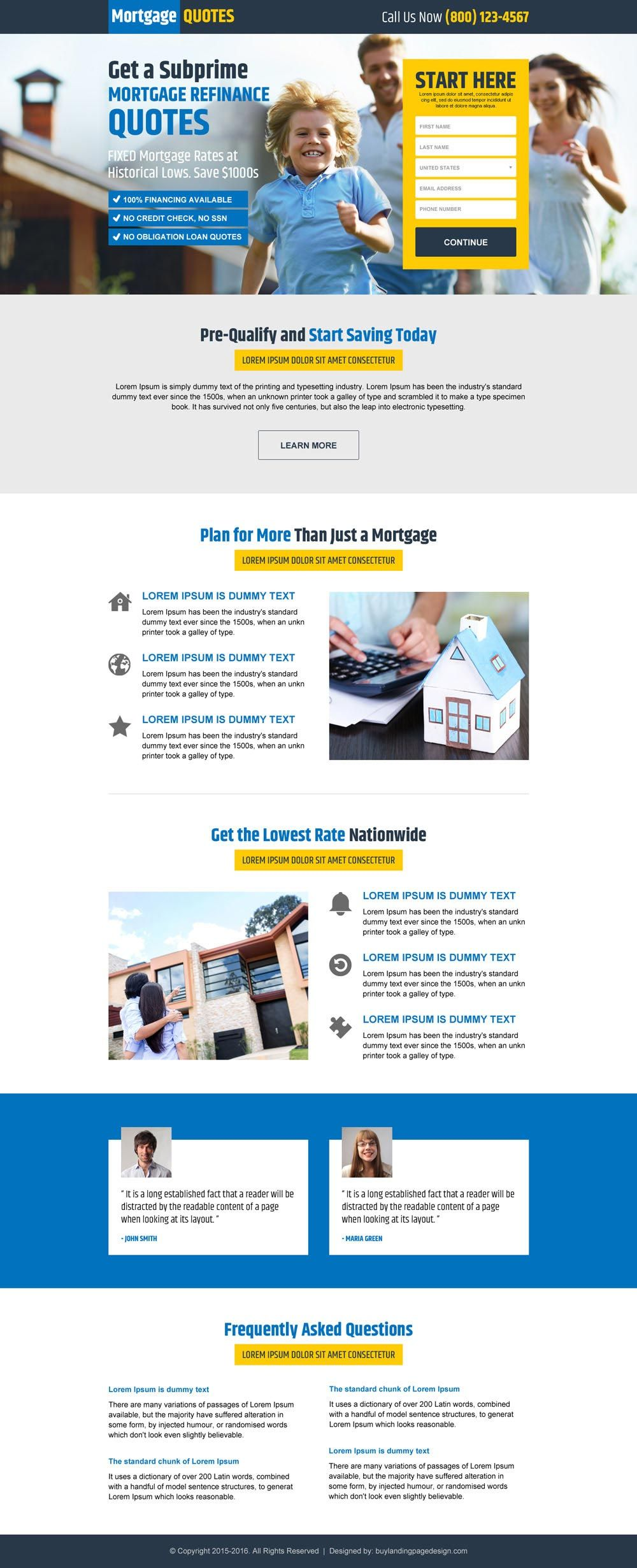 How To Quote A Website Get 10% Flat Discount On All Static Mortgage Landing Pages  Lp .