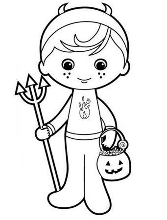 Coloriages Halloween pour vos démons (1)   Pinterest