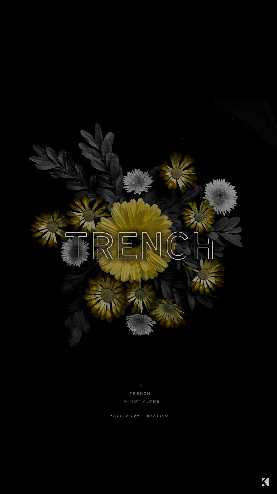 Wallpapers No 429 Trench Album Lyrics Yellow Floral