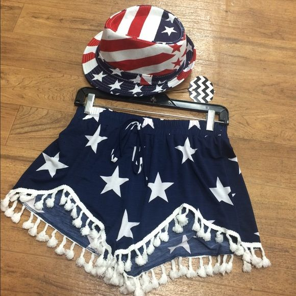 Navy Star Pom Pom shorts Navy star shorts w/hat set Shorts